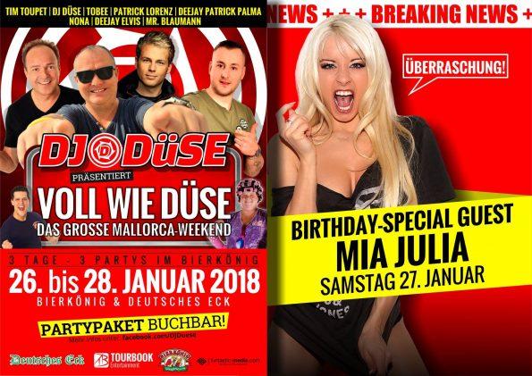 DJ-Düse Geburtstagsparty im Bierkönig 2018